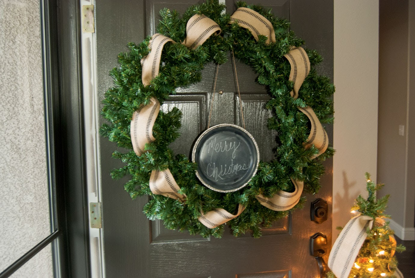 How To Make A Simple And Easy Farmhouse Christmas Wreath The