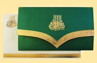 desain undangan pernikahan islami unik
