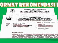 Contoh Format Surat Rekomendasi Penarikan BOS
