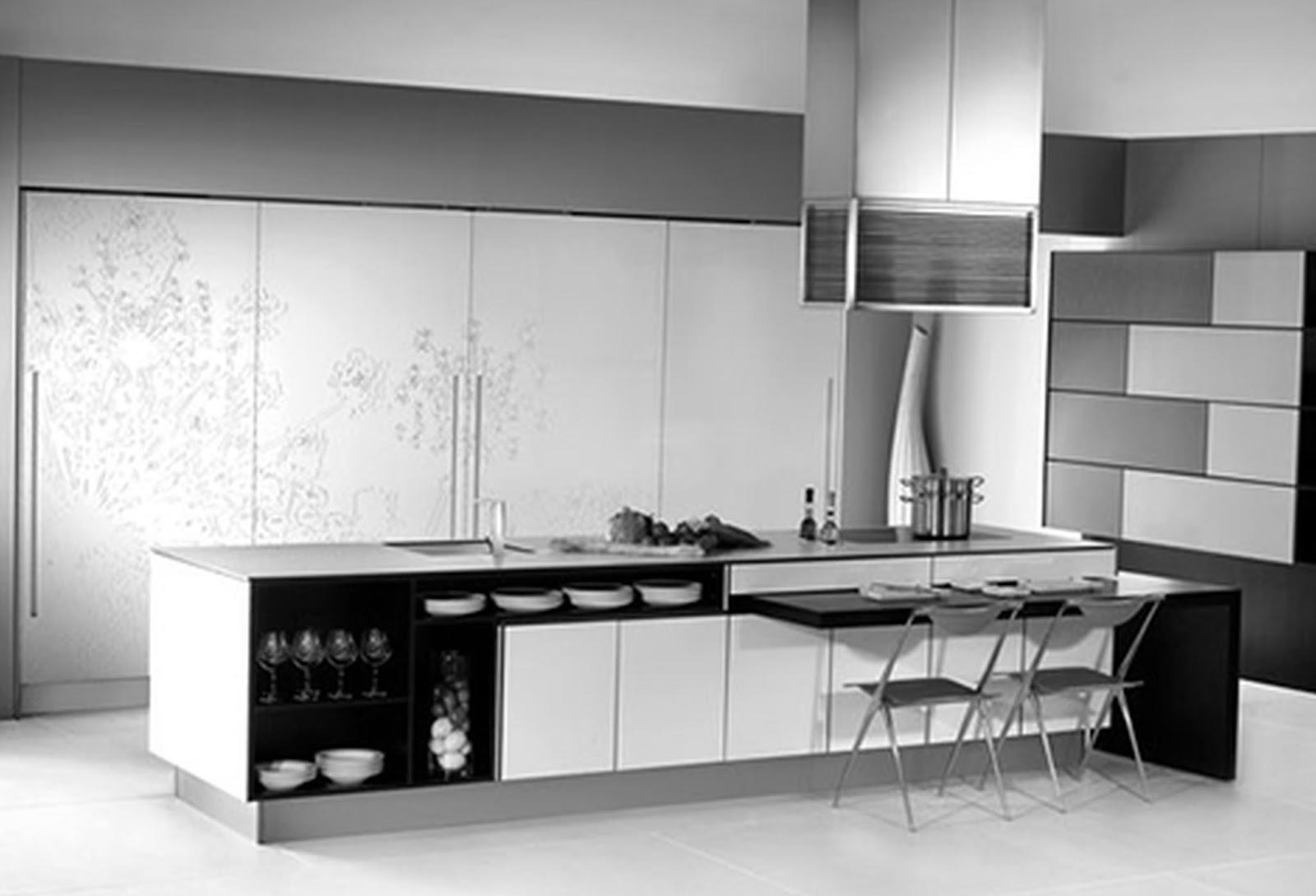 Black And White Kitchen Design 2017