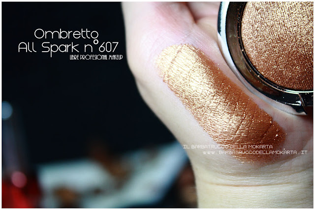 ombretto all spark gold swatches  libre professional makeup