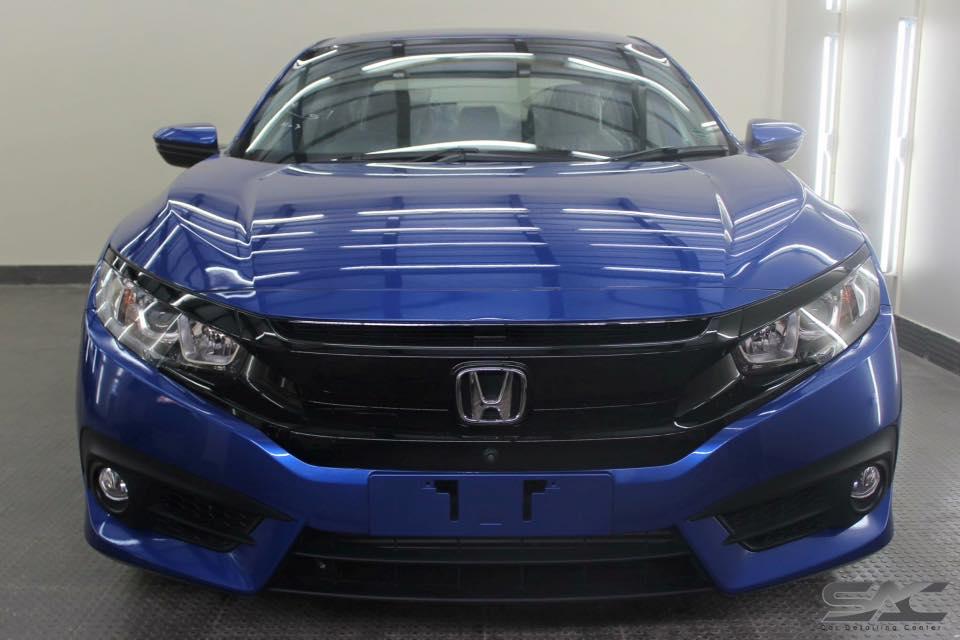 Modified Cars Blue Honda Civic 2016 Turbo