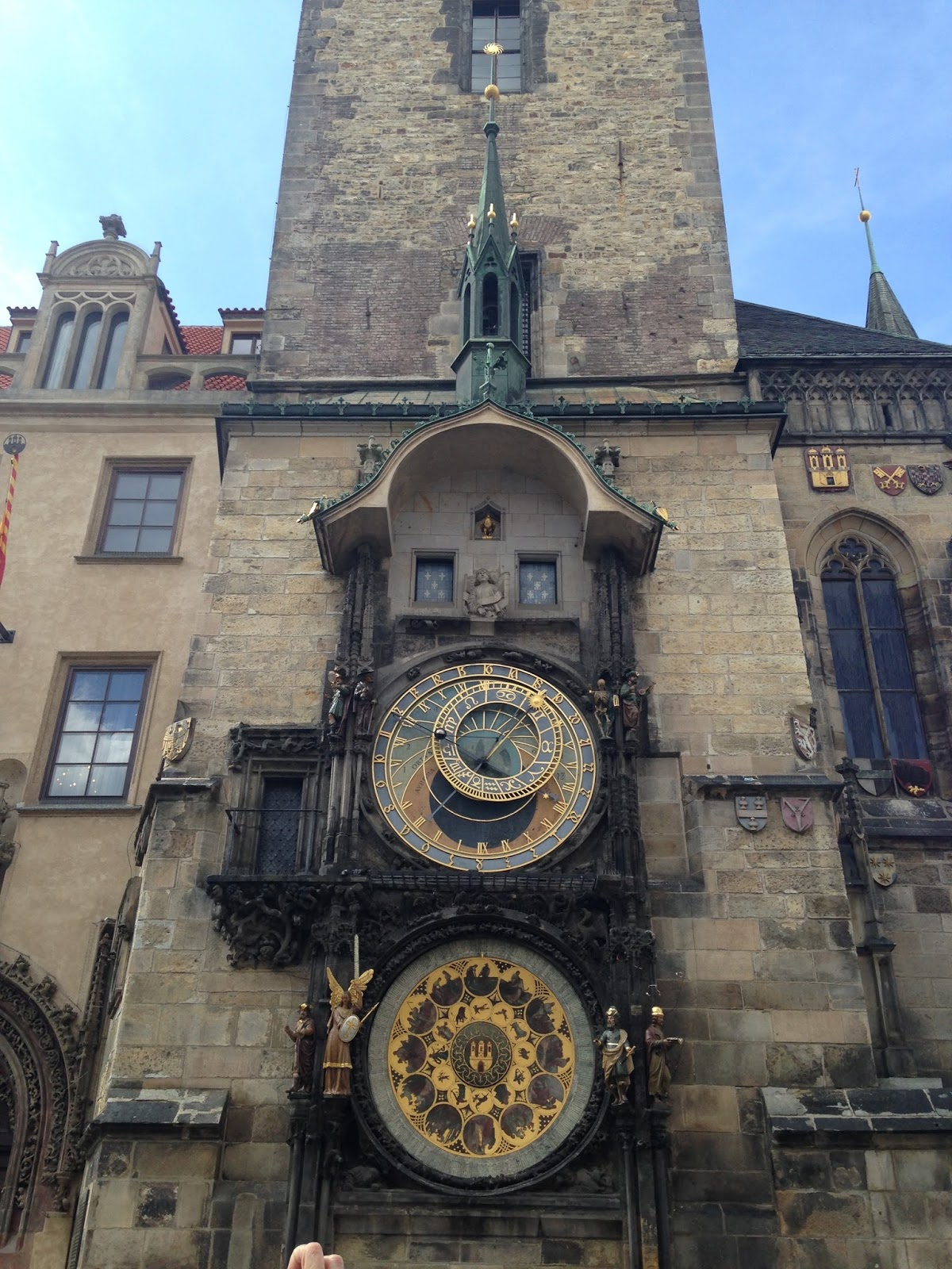 Prague Town Hall Tower, astronomical clock, calendar