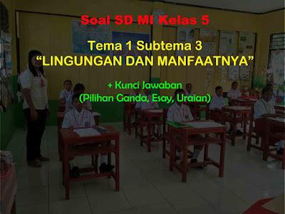 Soal Kelas 5 Tema 1 Subtema 3 (Lingkungan dan Manfaatnya) & Jawaban