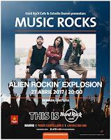 Concierto de Alien Rockin' Explosion en Hard rock café Madrid