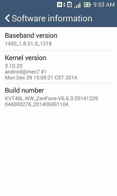 cara nak update Asus Zenfone 4 ke Lollipop