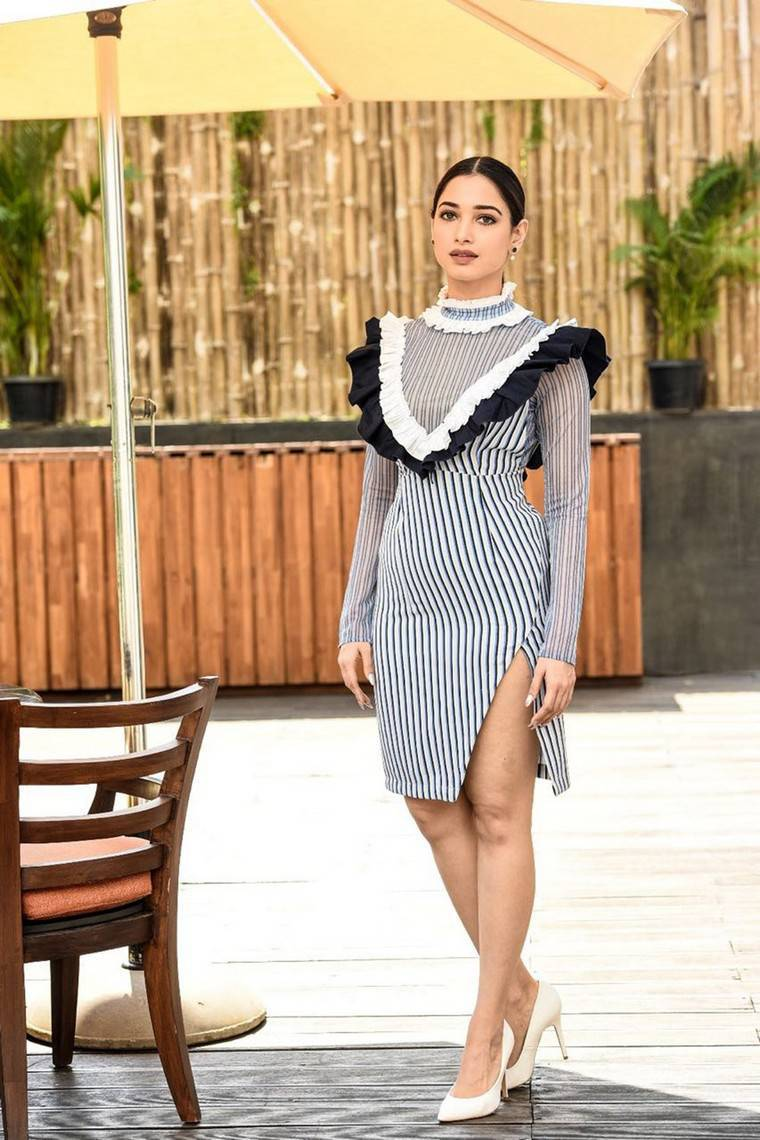 Tamanna Thigh Show Stills At India Today Conclave