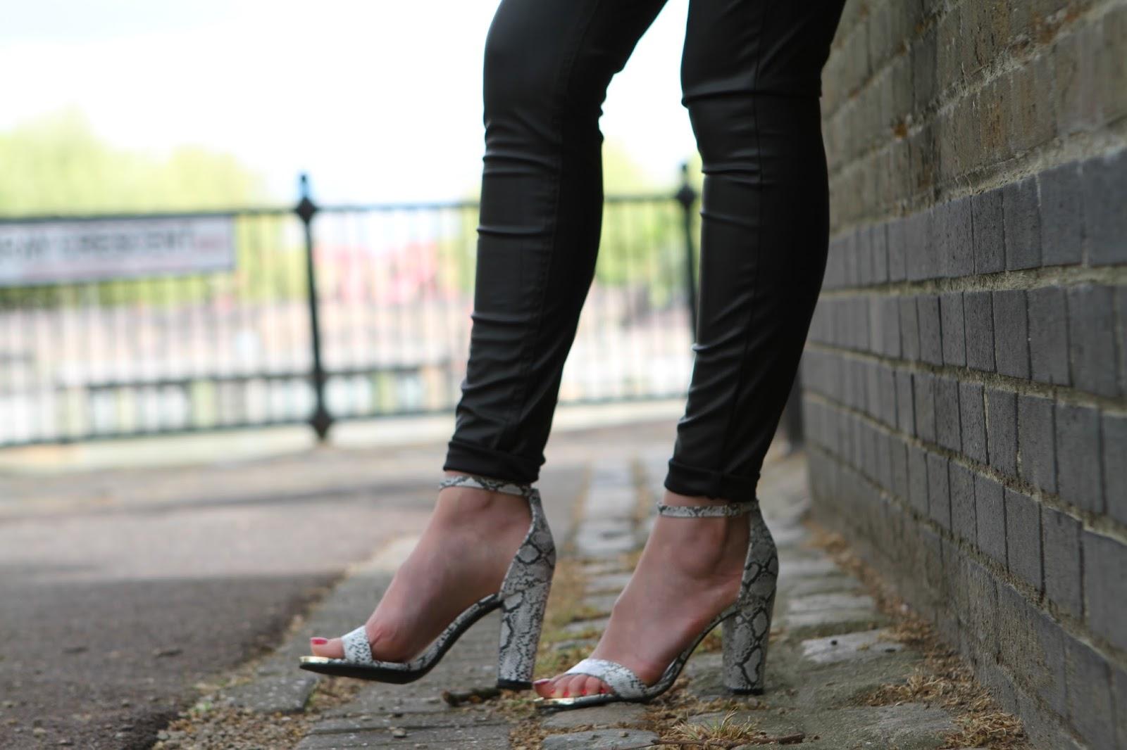 Linzi Nessy snakeskin heels