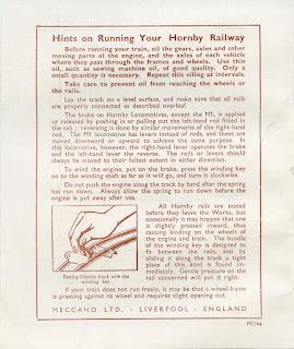Hornby O gauge hints