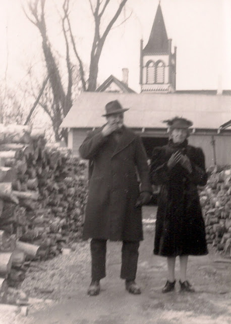 Pius Sullivan and his wife, my grandmother, Gwyneth Sullivan outside their home in Devon, New Brunswick