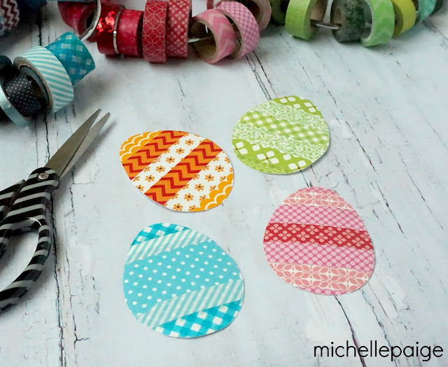Washi Tape Easter Egg Tags