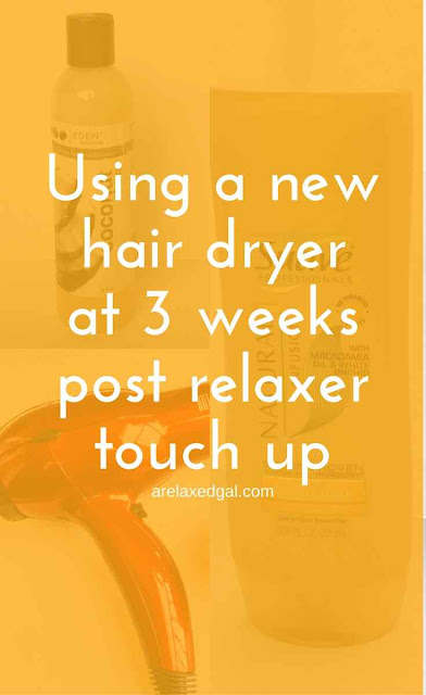 Relaxed Hair Wash Day: Using a new hair dryer | arelaxedal.com
