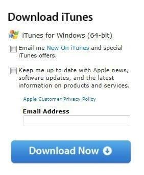Download iTunes di Situs Apple