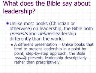 Learn and practice what Bible Say About Leadership