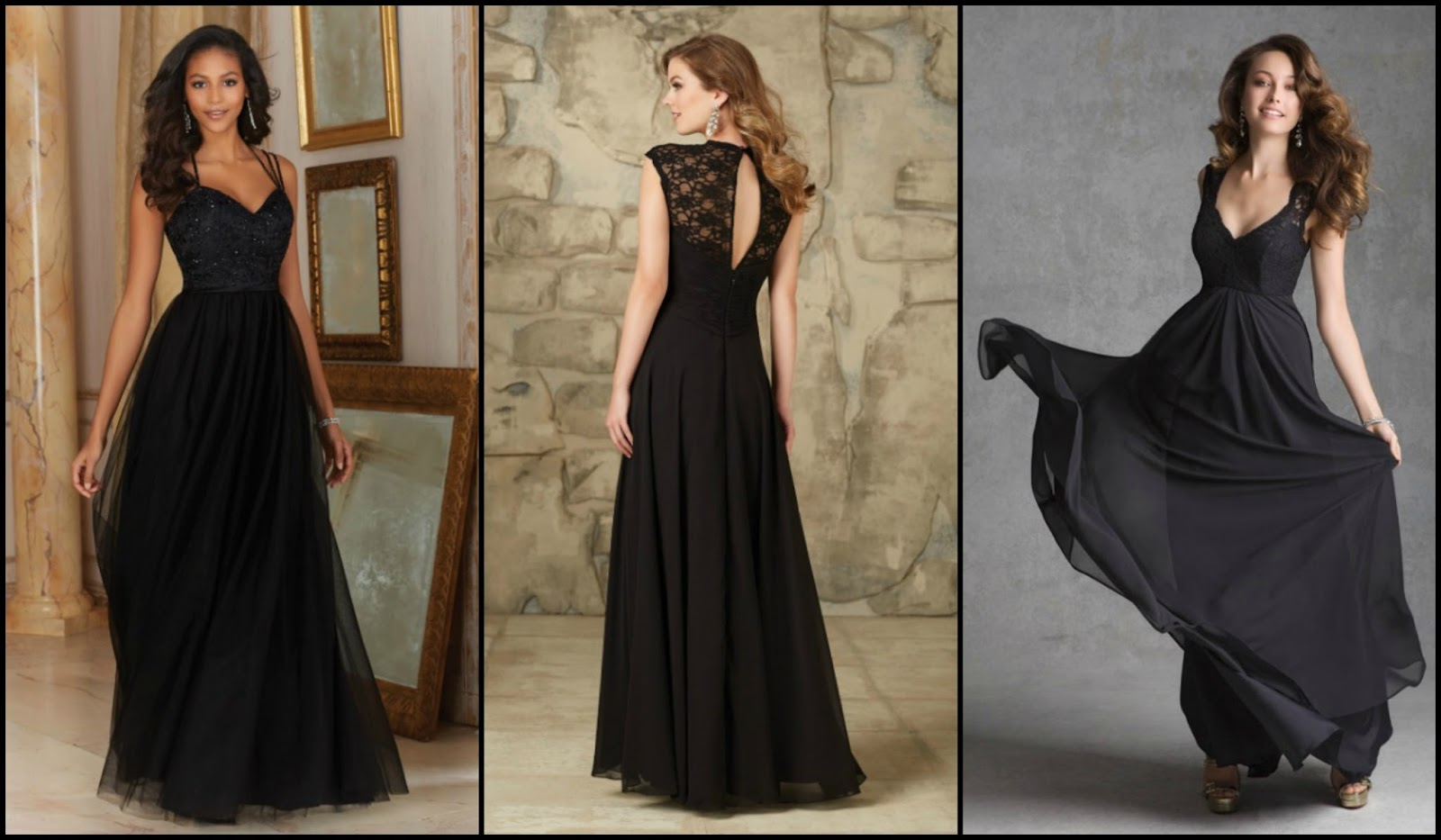 Brides of america online store elegant black bridesmaid dresses elegant black bridesmaid dresses for your wedding ombrellifo Image collections