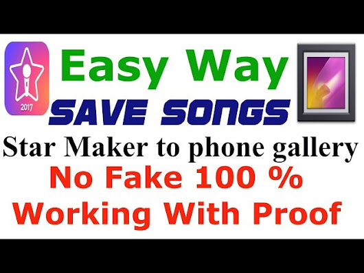 How to download any recorded song from starmaker & Smule.