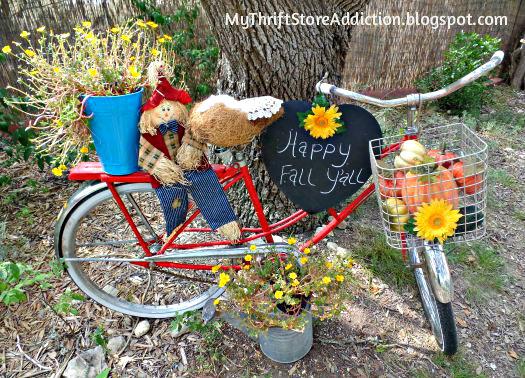 Vintage fall garden bike