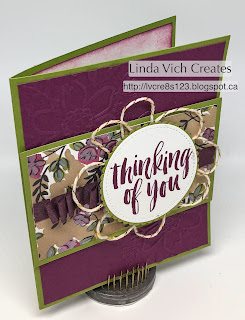 Linda Vich Creates: Share What You Love For Mother's Day. The Lovely Floral embossing folder and the Share What You Love DSP combine to produce this lovely Mother's Day card.