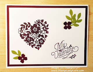 Valentine Card made with Stampin'UP!'s Bloomin Love Bundle, could also work as a Wedding Card