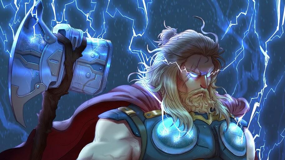 Thor, Stormbreaker, Lightning, 4K, #4.2300