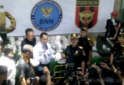 Narcotics seized by Indonesia's BNN (National Narcotics Agency)