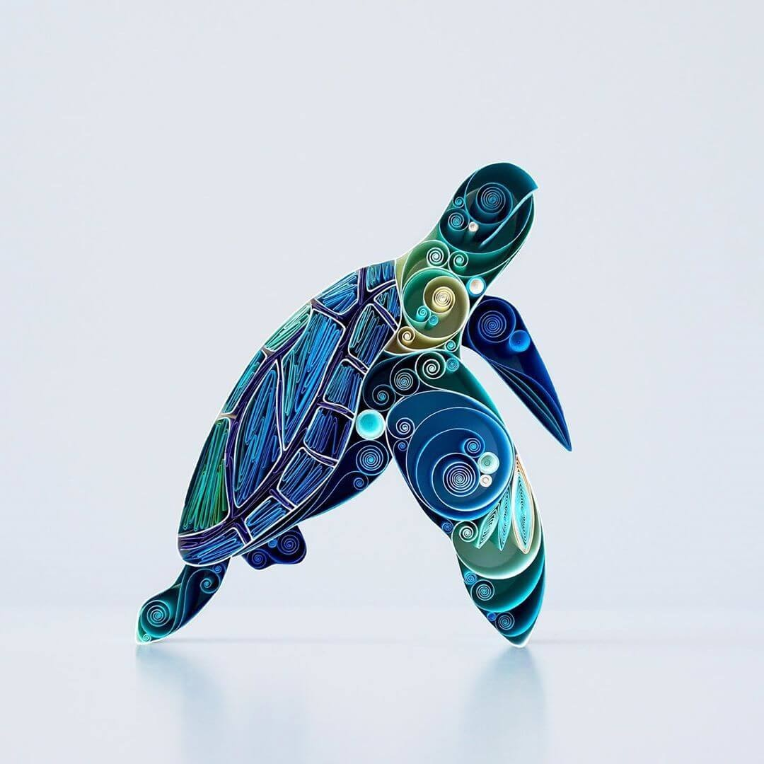 05-Sea-Turtle-Sena-Runa-Quilling-Art-Animals-and-Objects-www-designstack-co