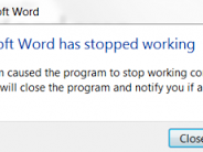 Microsoft Word has Stopped Working Windows 7