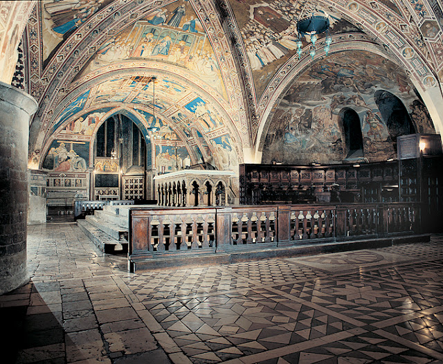 La basilique où repose François d'Assise