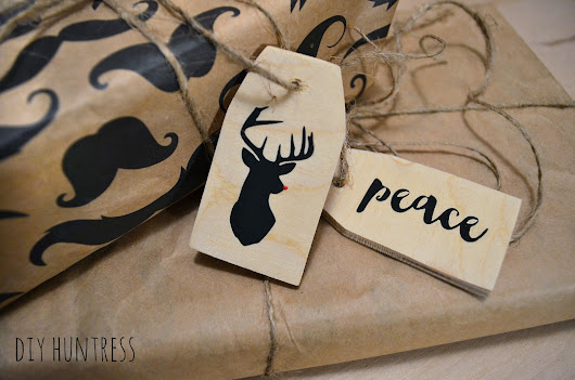 DIY Wooden Holiday Gift Tags