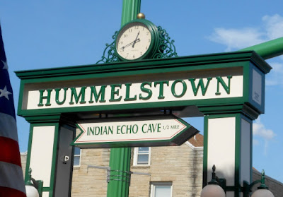The Town Clock in Hummelstown Pennsylvania