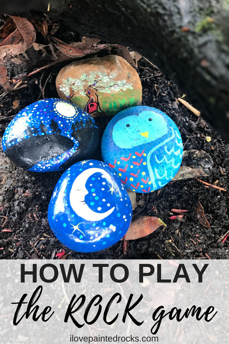 What are kindness rocks? A fun hide and seek rock game that has people painting and hiding rocks all over the world! Learn the rules and how to play! #ilovepaintedrocks #kindnessrocks #paintedrocks #rockpainting