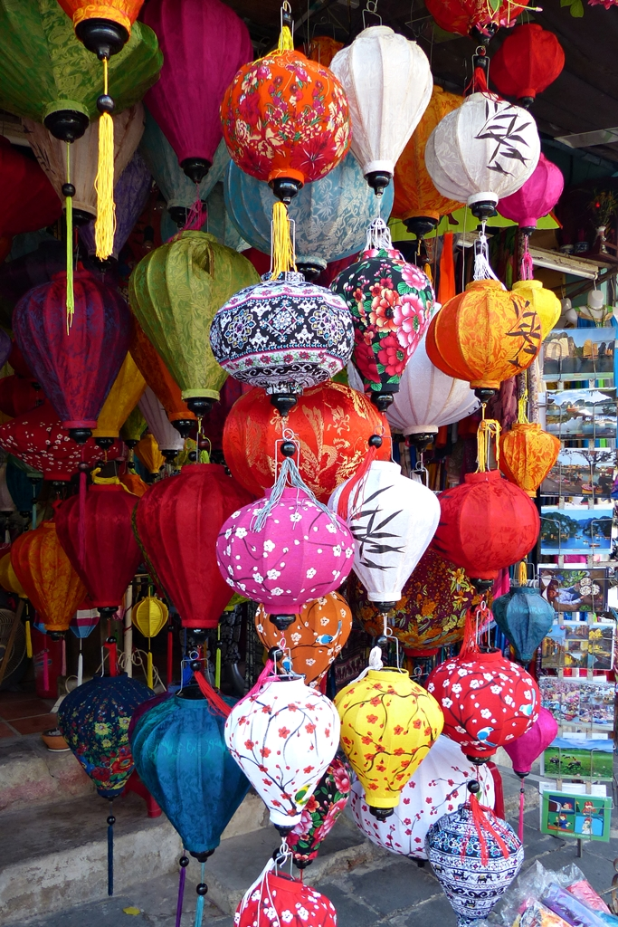 Colourful lanterns for sale in Hoi An Vietnam