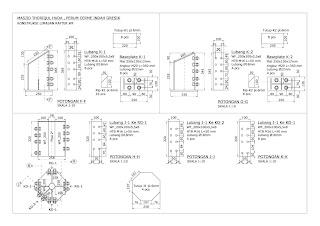 gambar detail konstruksi atap wf joglo sistem las mur baut htb