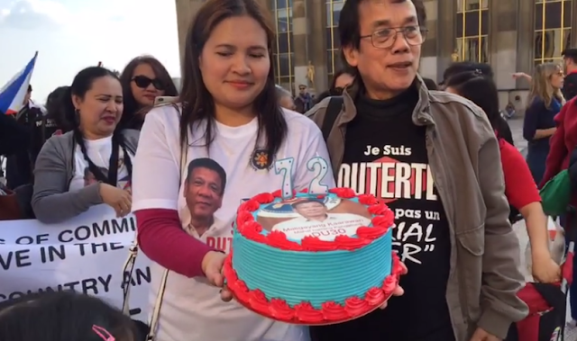WATCH: Solid Duterte supporters in France greet the president