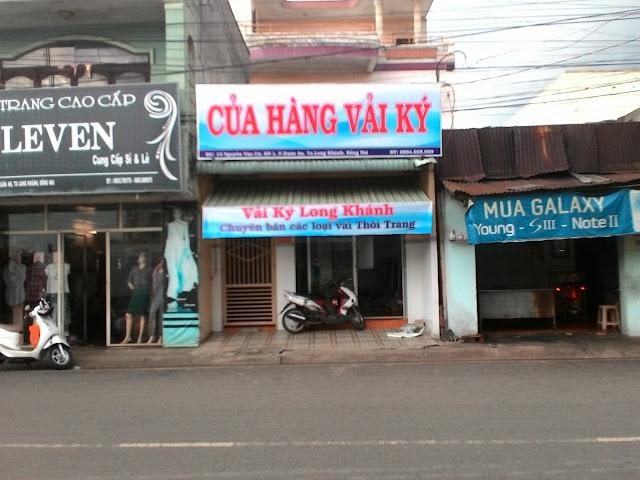 hình ảnh cửa hàng vải ký long khánh