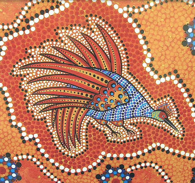 Australia aboriginal art, a color bird of dots