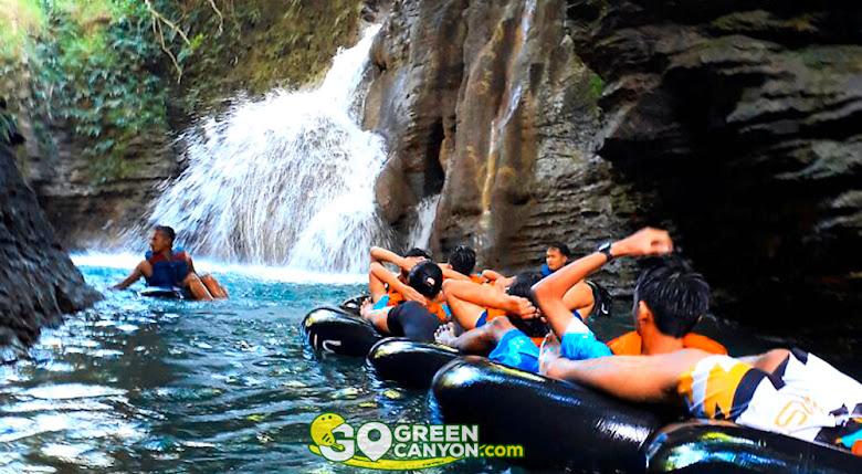 river tubing di green santirah pangandaran