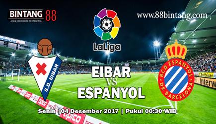 Prediksi skor Eibar vs Espanyol 4 Desember 2017