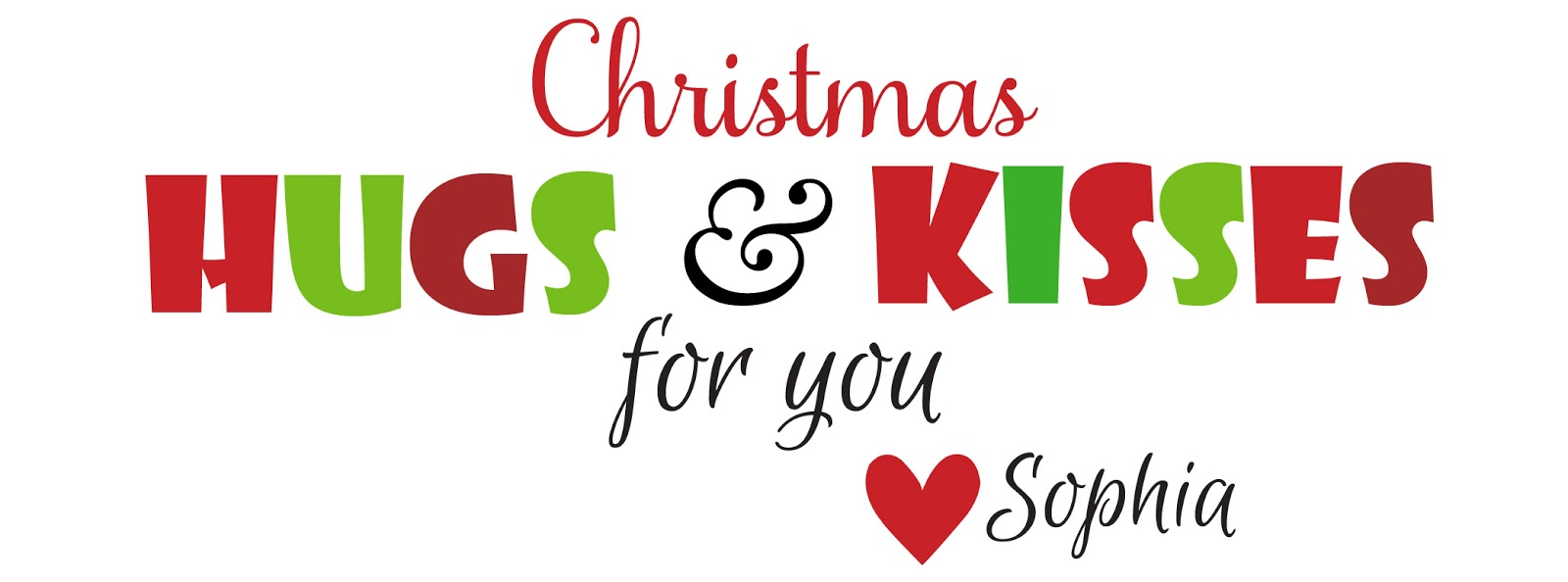 It's Written on the Wall: Christmas Hugs and Kisses - We ...