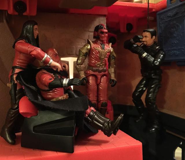 2005 Cobra Imperial Guard, Cobra Commander, Imperial Processional, TRU Exclusive, Baroness, Crimson Shadow Guard, Agent Faces