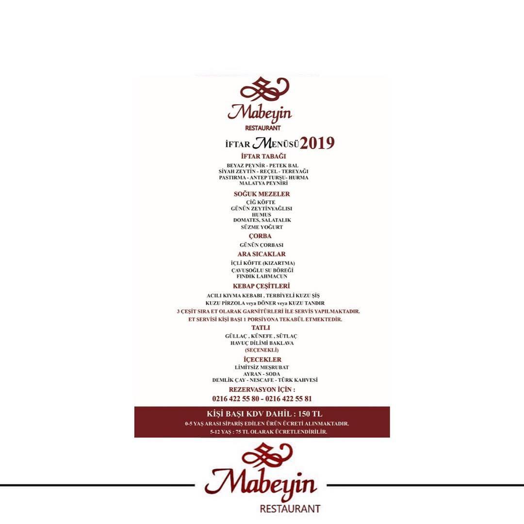 mabeyin iftar 2019 mabeyin iftar menüsü 2019 mabeyin restaurant menü mabeyin iftar fiyat anadolu yakası iftar mekanları