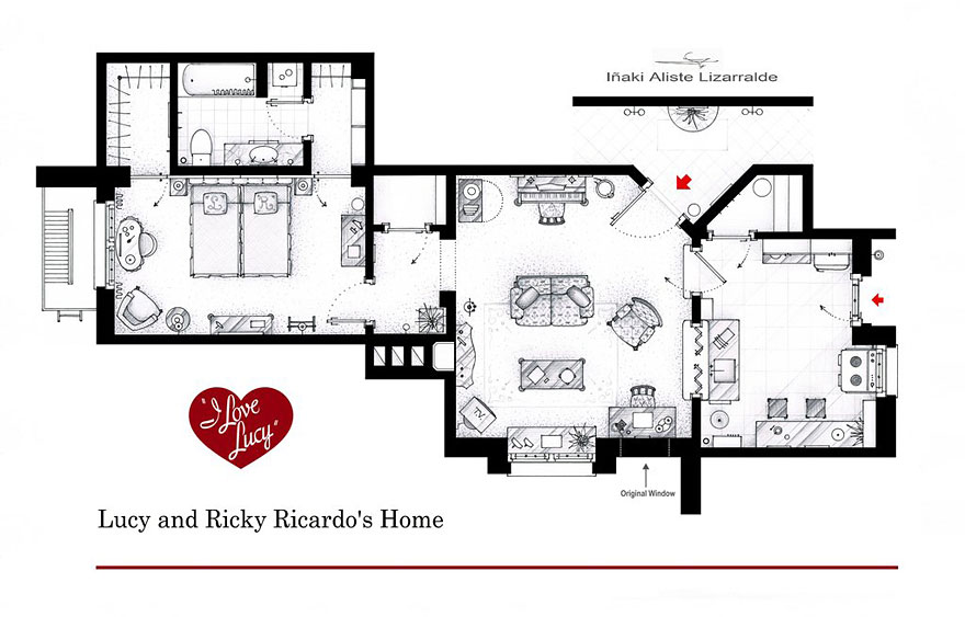 The Spurberry: Famous TV Shows' Floor Plans