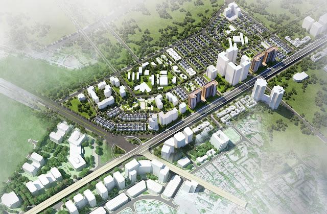 Phối cảnh khu đô thị Tây nam Kim Giang