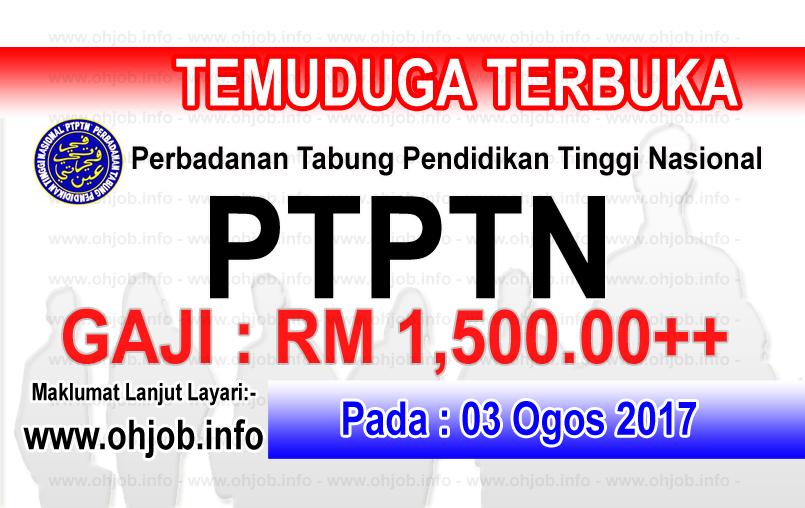 Jawatan Kerja Kosong PTPTN - Perbadanan Tabung Pendidikan Tinggi Nasional logo www.ohjob.info ogos 2017