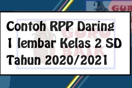 RPP Daring Kelas 2 SD K13 Tahun 2020/2021