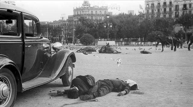 Plaça Catalunya Barcelona 19 juliol 1936