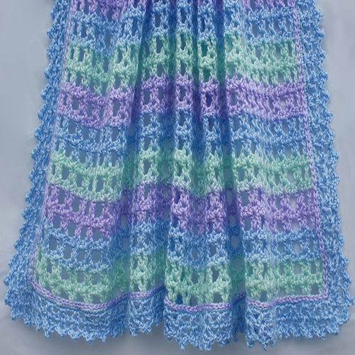 Crochet A Striped Lace Baby Afghan - Free Pattern