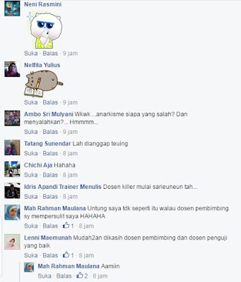Komentar Foto Lelucon Terkait Pembunuhan Dosen Oleh Mahasiswa