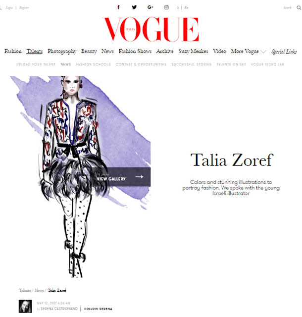 Interview on Vogue Italy
