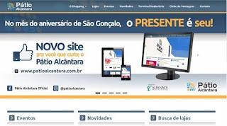 Shopping Pátio Alcântara lança novo site